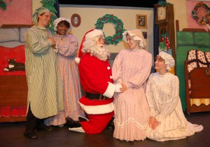 """The cast of """"'Twas the Night Before Christmas"""" performs a scene from the timeless Christams classic."""