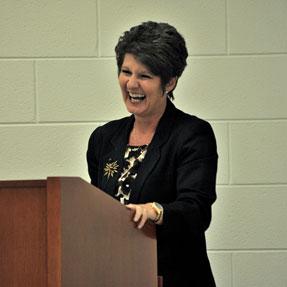 20110719Leadership speaker Laura Owens