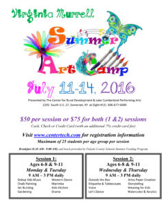 VM SUMMER ART CAMP Class flier 2016-1