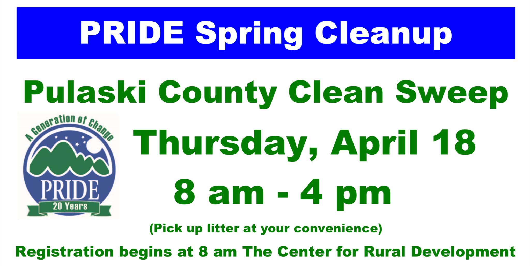 Pulaski County Clean Sweep @ The Center for Rural Development
